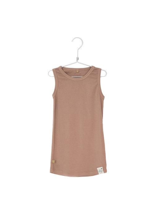 Lötiekids Lötiekids Rib Dress Sleeveless Solid Clay Pink