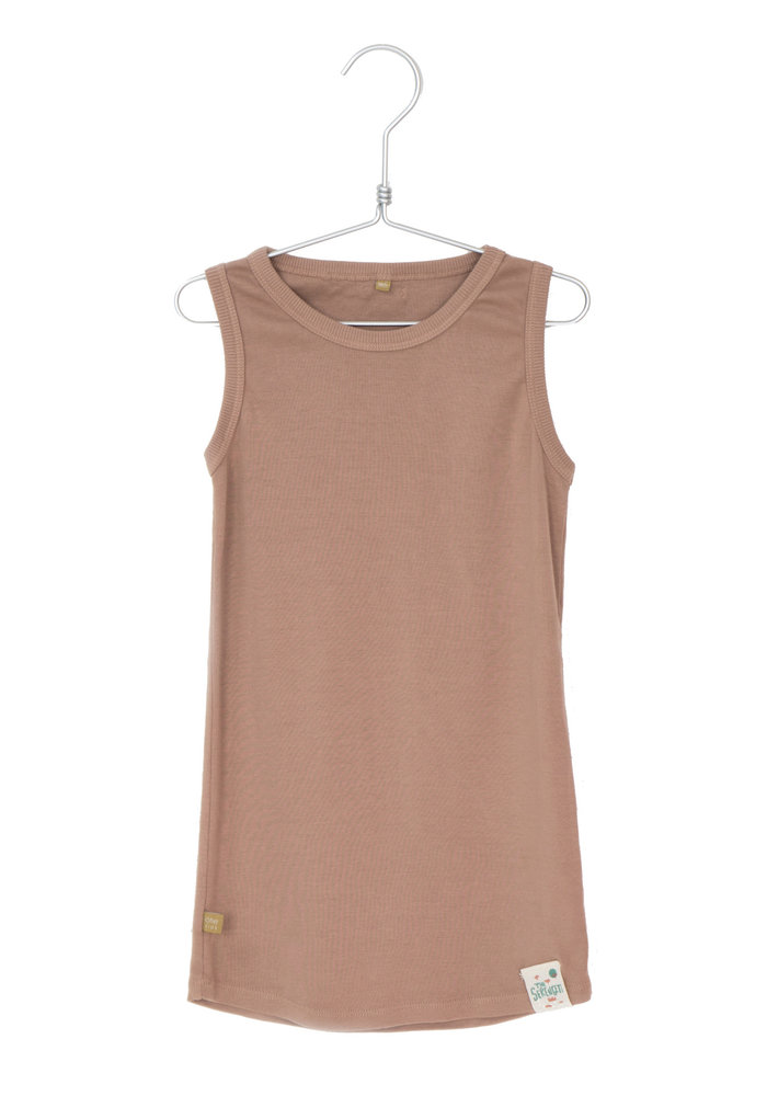 Lötiekids Rib Dress Sleeveless Solid Clay Pink