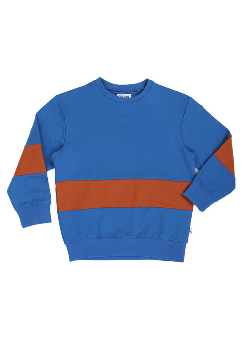 CarlijnQ CarlijnQ Sweater Striped Blue & Rust