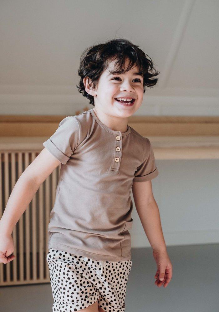 Blossom Kids Shirt Short Sleeve Cacao