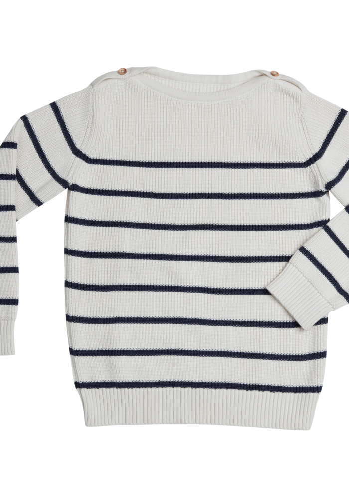 Blossom Kids Jumper Knitted Stripes Midnight Blue