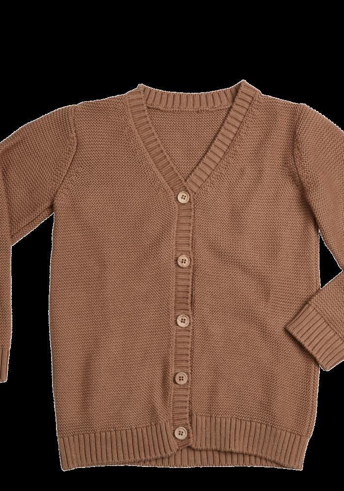 Blossom Kids Cardigan Knitted Smoked Hazelnut