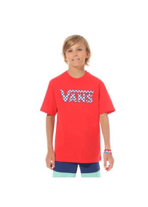 VANS Vans Classic Logo Tee Kids Racing Red/Checkerboard