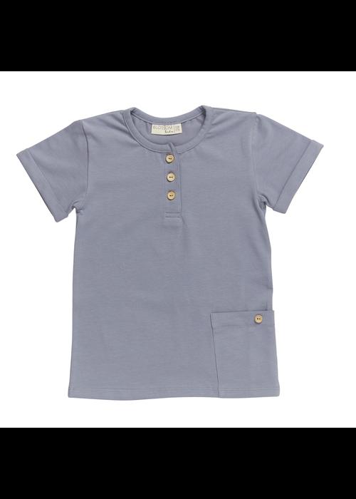 Blossom Kids Blossom Kids Short Sleeve Shirt Blue Grey