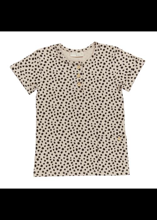 Blossom Kids Blossom Kids Short Sleeve Shirt Animal Dots Sand