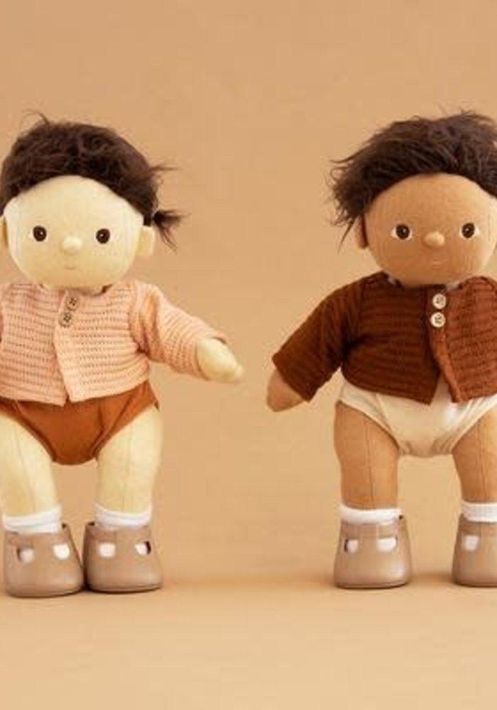 Olli Ella Dinkum Doll Single Cardigan Chestnut