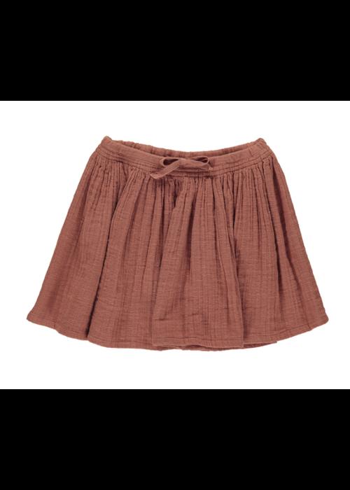MarMar MarMar Sille Structure Muslin Skirt Dusty Brick
