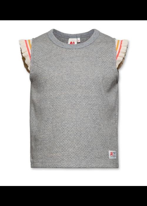AO76 AO76 Jacquard T-shirt C-neck Heather Grey