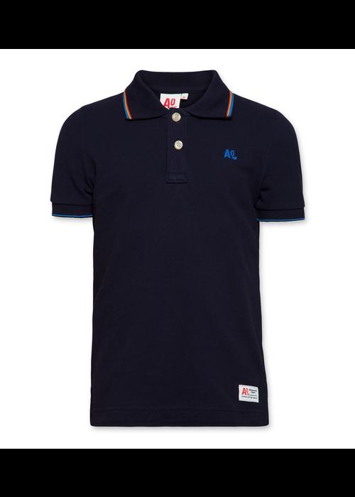 AO76 AO76 T-shirt Polo Pique Dark Navy