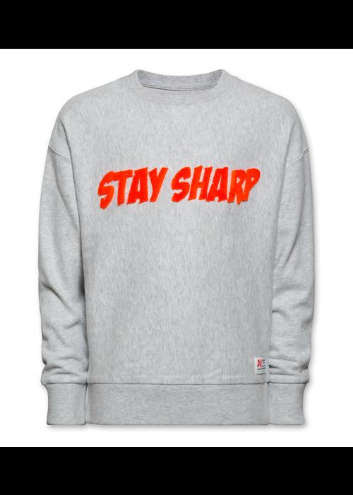 AO76 AO76 Sweater Sharp C-neck Brushed Sweats Light Oxford