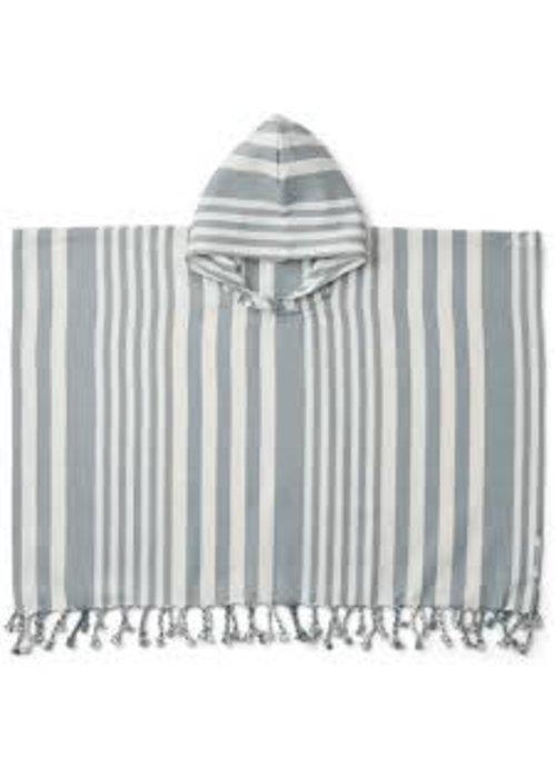Liewood Liewood Roomie Poncho Stripe Sea Blue/Creme de la Creme