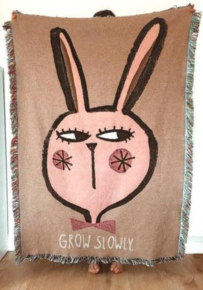 Studio Loco Jacquard Cotton Throw Rabbit 100 x 140 cm
