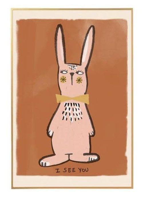Studio Loco Studio Loco Wallposter Rabbit 50x70cm
