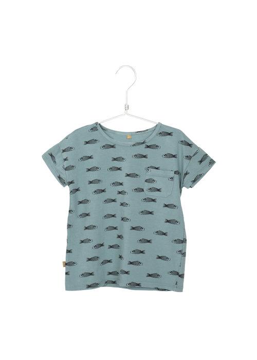 Lötiekids Lötiekids T-shirt SS Fishes Bluegrey