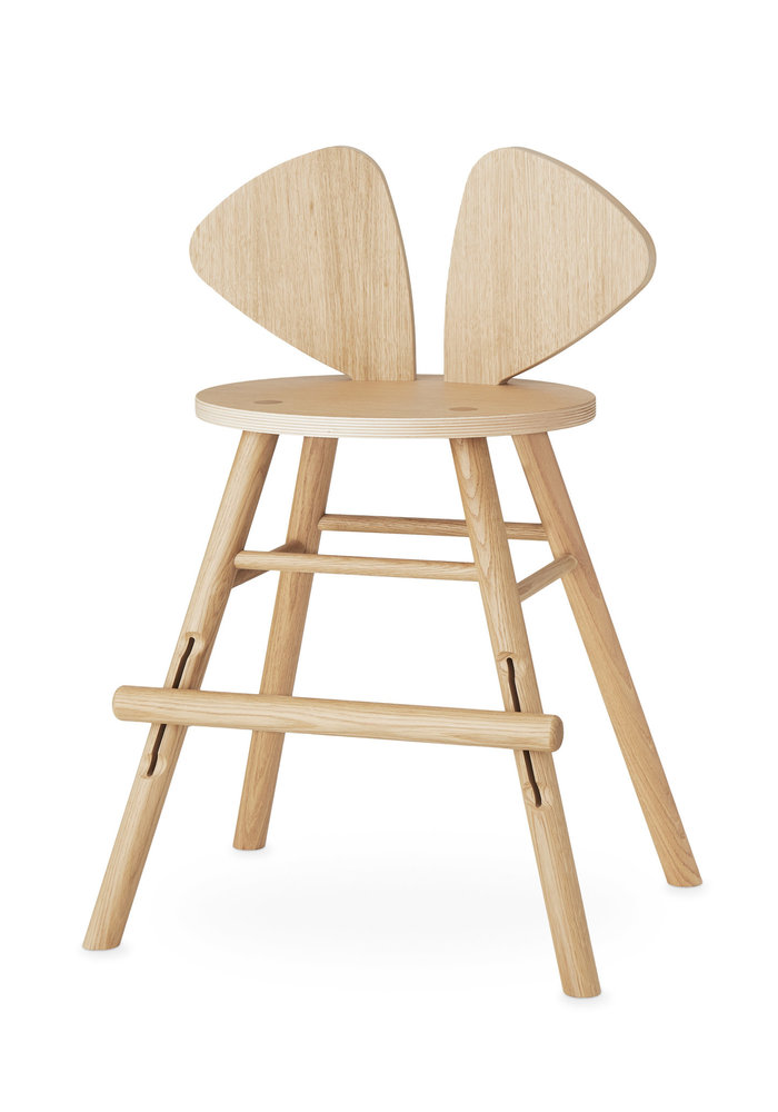 Nofred Mouse Chair Junior (3-9 years) - Oak