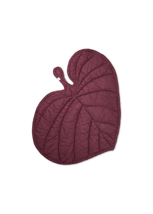 Nofred Nofred Leaf Blanket -Burgundy
