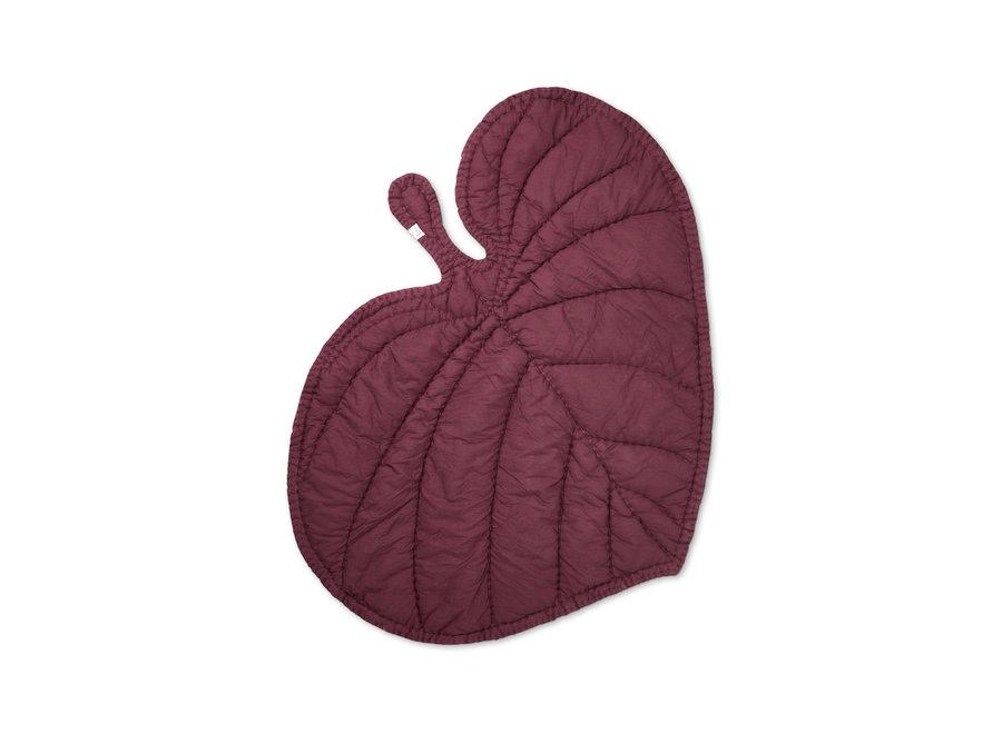 Nofred Leaf Blanket -Burgundy