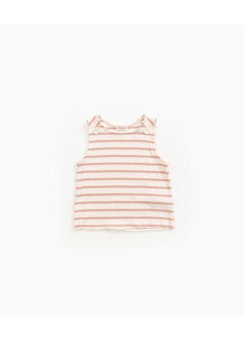 Play Up Play Up Striped Sleeveless Rib T-shirt