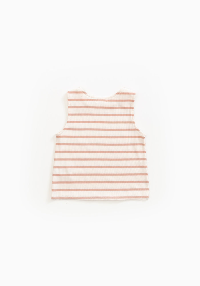 Play Up Striped Sleeveless Rib T-shirt
