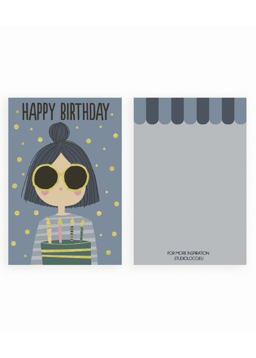 Studio Loco Studio Loco Multipack B-day Cards Girl