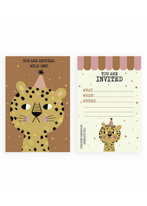 Studio Loco Studio Loco Multipack B-day Cards Leopard
