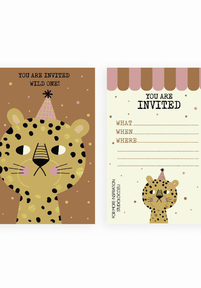 Studio Loco Multipack B-day Cards Leopard