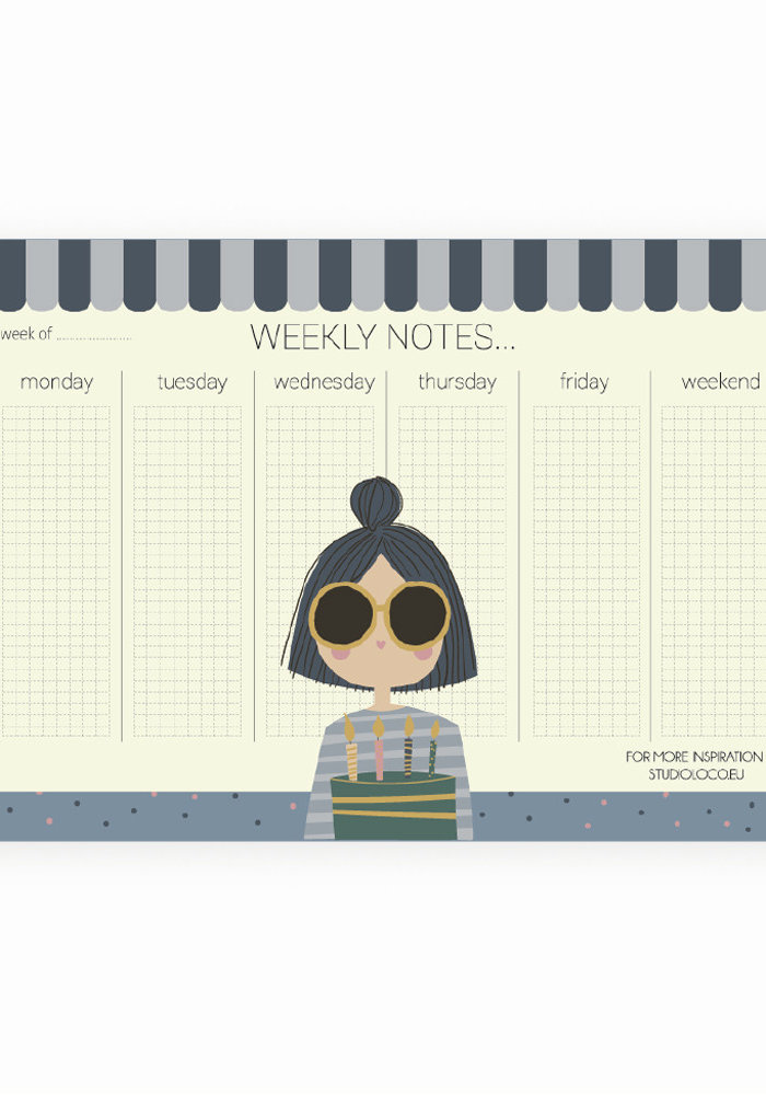 Studio Loco Weekplanner Girl A4