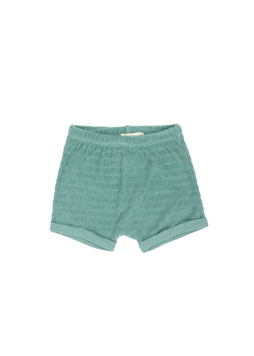 Phil&Phae Phil & Phae Striped Frotté Shorts Sea Glass