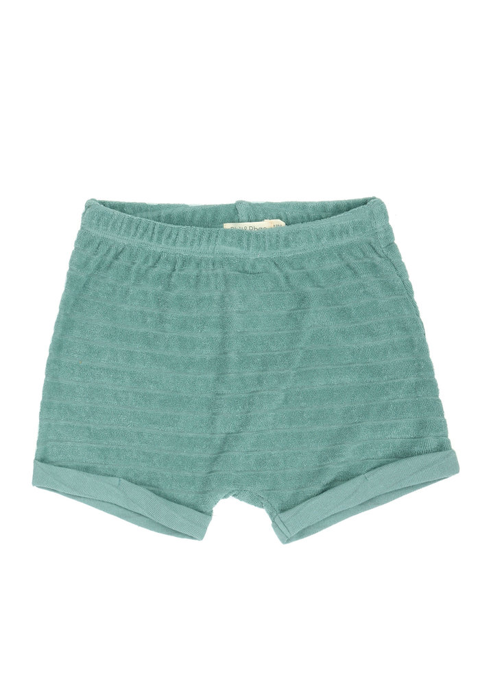 Phil & Phae Striped Frotté Shorts Sea Glass