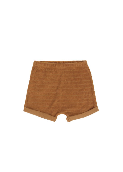 Phil&Phae Phil & Phae Striped Frotté Shorts Antique Brass