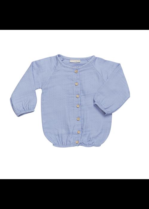 Blossom Kids Blossom Kids Muslin blouse 3/4 sleeves Lilac Blue