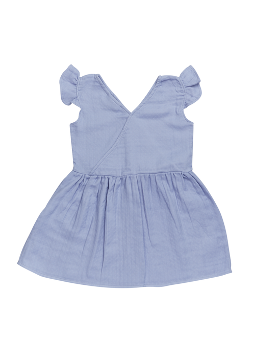 Blossom Kids Blossom Kids Muslin Dress Muslin - Lilac Blue