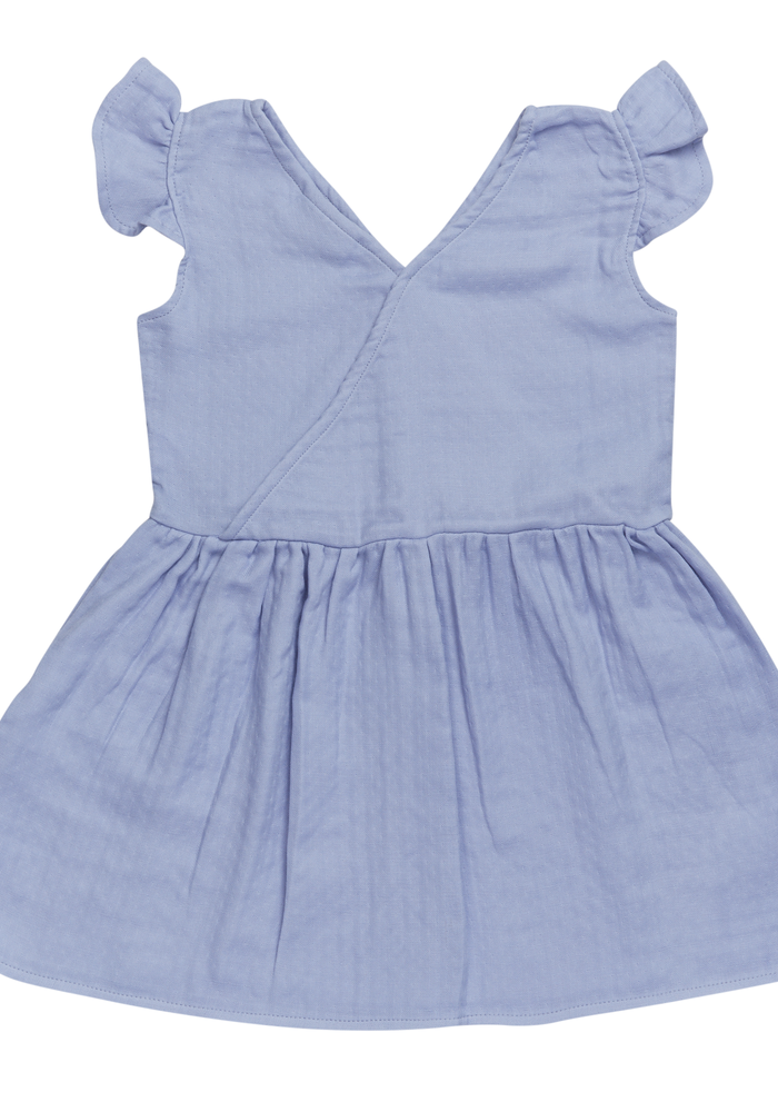 Blossom Kids Muslin Dress Muslin - Lilac Blue