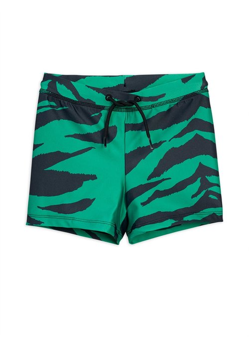 Mini Rodini Mini Rodini Tiger  Swimpants Green