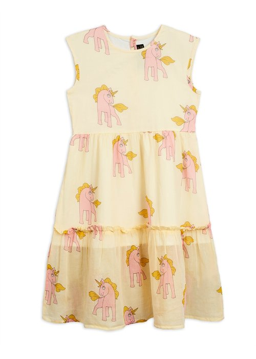Mini Rodini Mini Rodini Unicorns Woven Long Dress