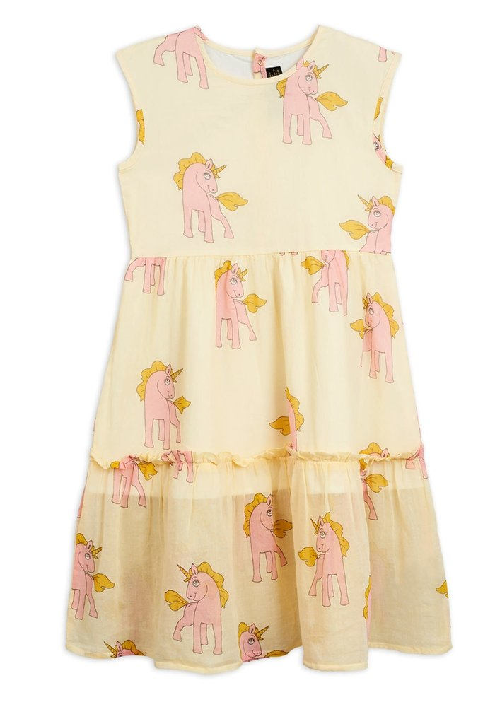 Mini Rodini Unicorns Woven Long Dress