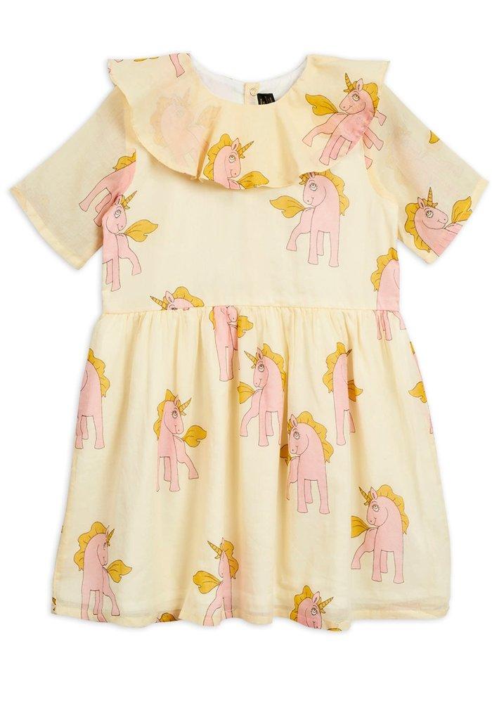 Mini Rodini Unicorns Woven Dress Yellow