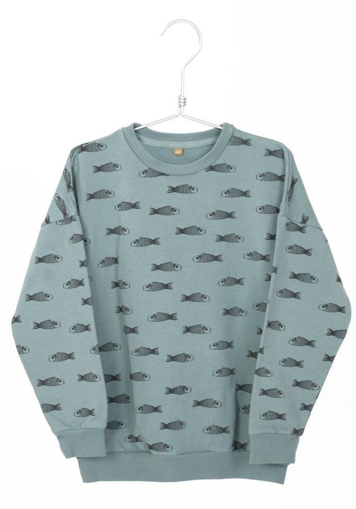 Lötiekids Sweatshirt Fishes Bluegrey