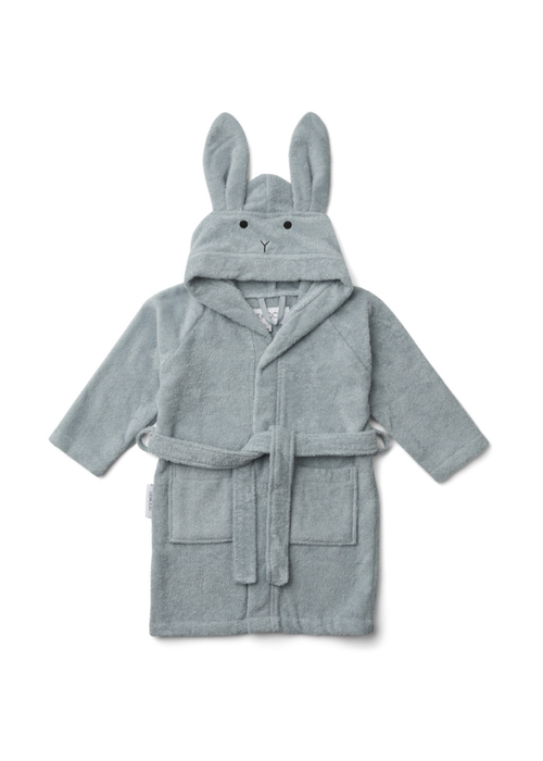 Liewood Liewood Lily Bathrobe Rabbit Sea Blue