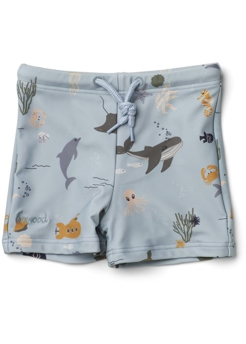 Liewood Liewood Otto Swim Pants Sea Creature Mix