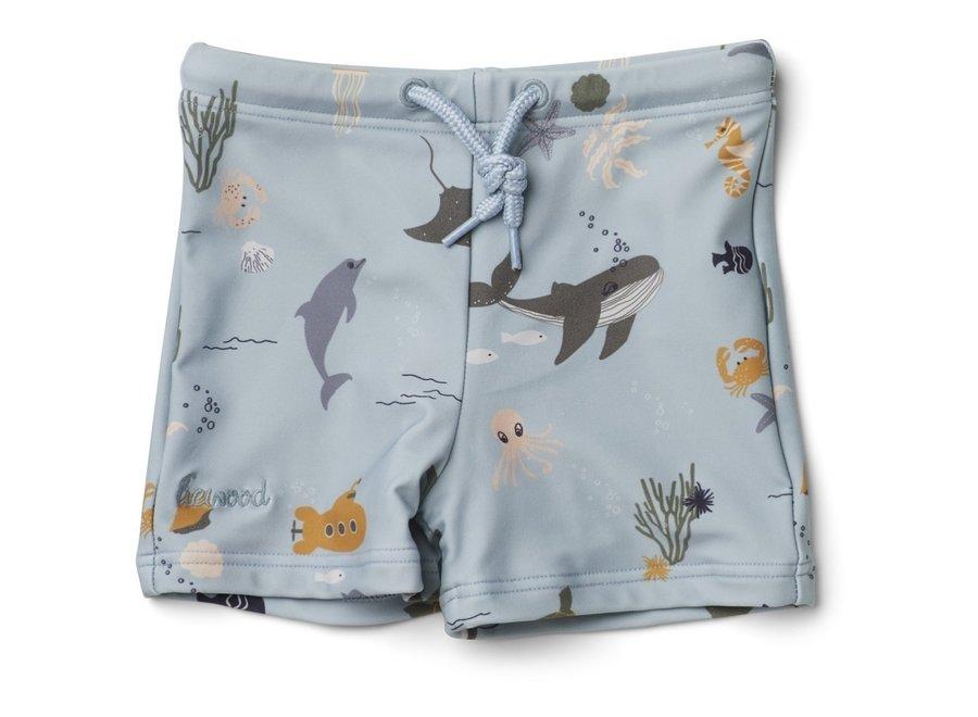 Liewood Otto Swim Pants Sea Creature Mix