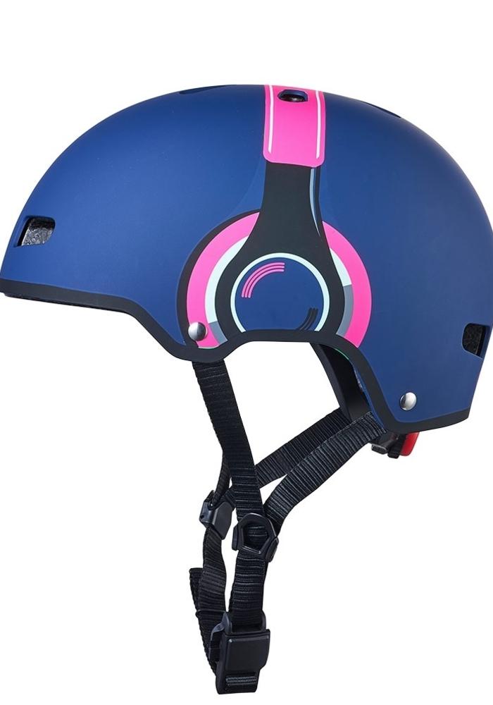 Micro Step Helm Deluxe Headphones blauw/roze S (48-53cm)