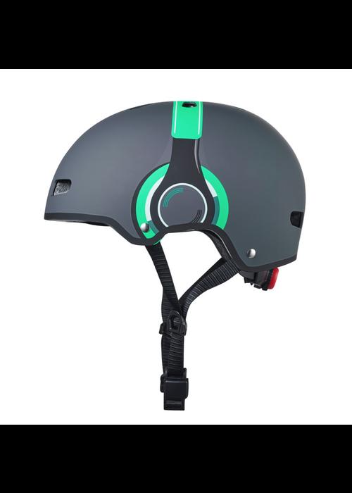 Microstep Micro Step Helm Deluxe Headphones grijs/groen M (54-58cm)