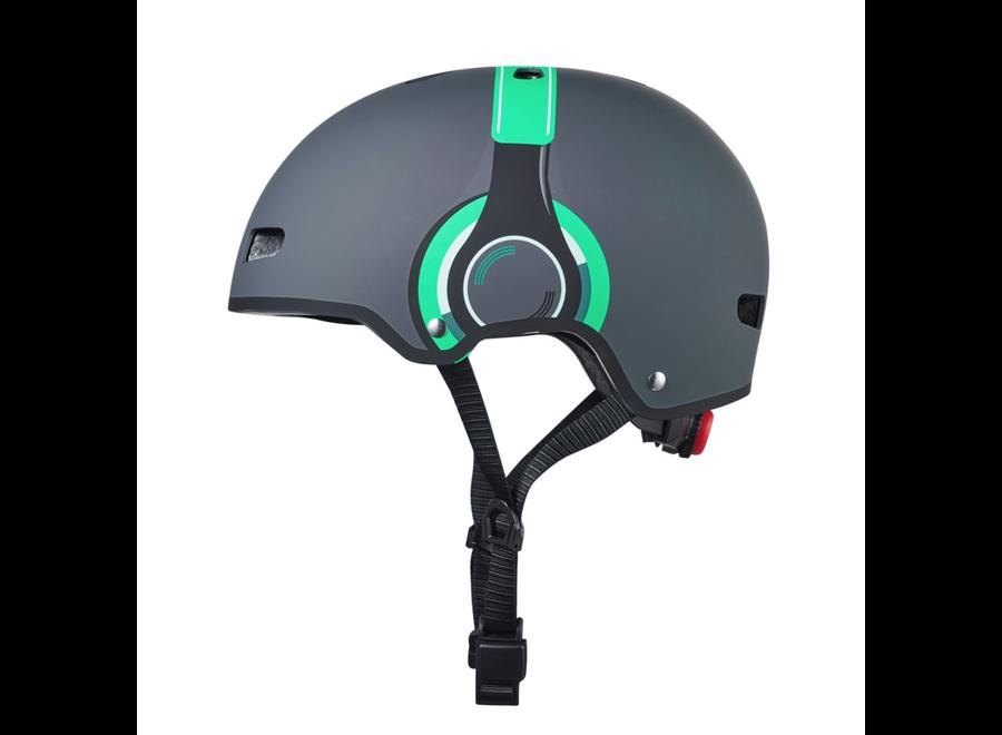 Micro Step Helm Deluxe Headphones grijs/groen M (54-58cm)