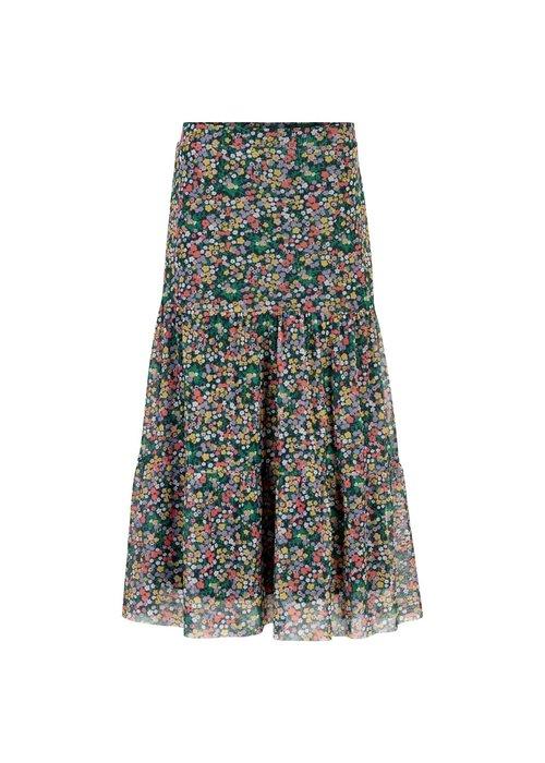 The New Paris Maxi Mesh Skirt Navy Blazer