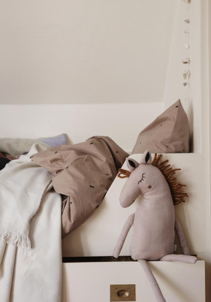 Ferm Living Horse Cushion Dusty Rose