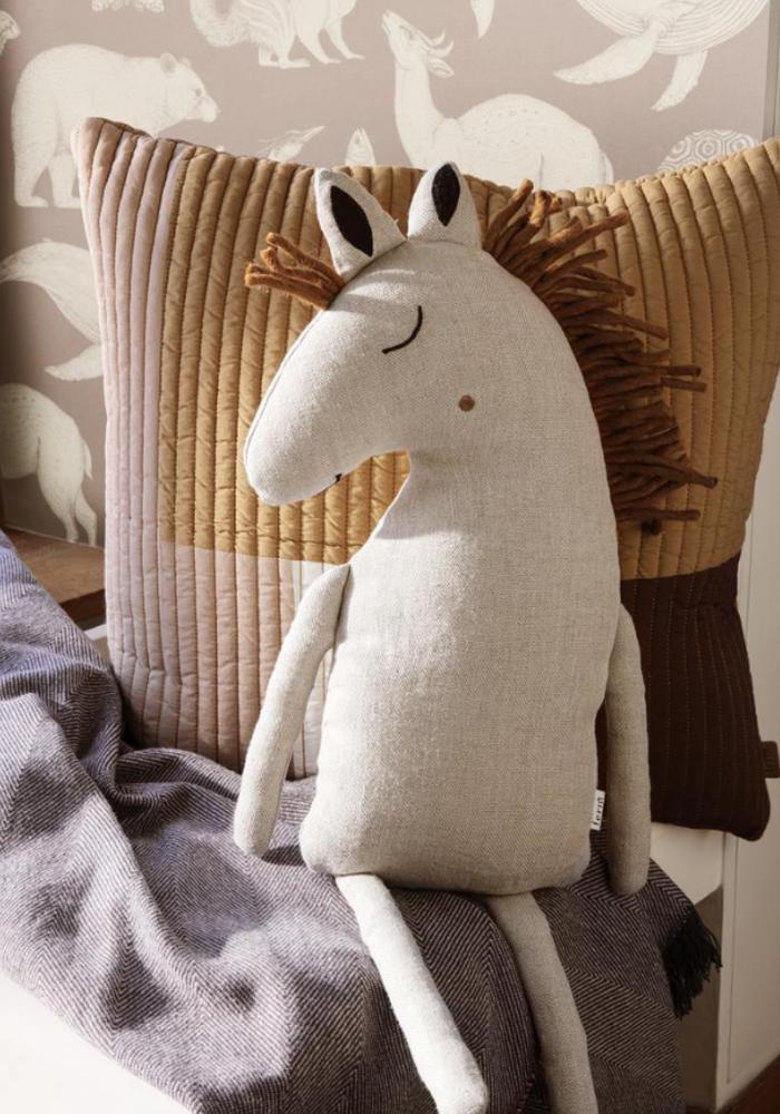 Ferm Living Horse Cushion Dusty Rose