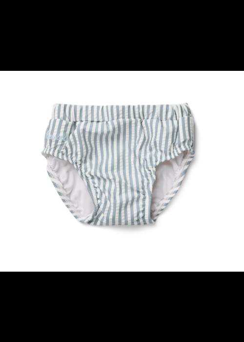 Liewood Liewood Frej Baby Boy Swim Pants Seersucker Stripe Sea Blue/White