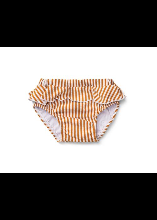 Liewood Liewood Elise Baby Girl Swim Pants Seersucker  Mustard/White
