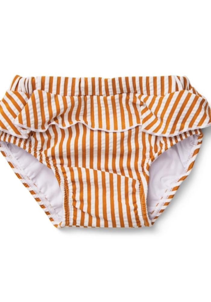 Liewood Elise Baby Girl Swim Pants Seersucker  Mustard/White